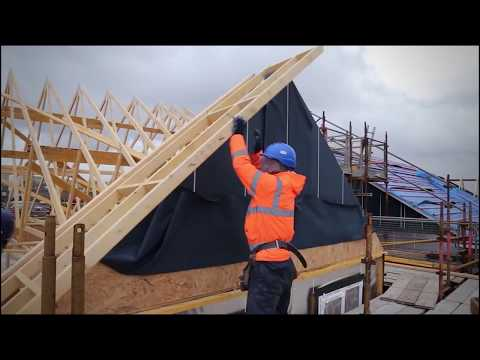 Trussed Rafter Roof Installation Video - TRA & Stewart Milne Timber Systems