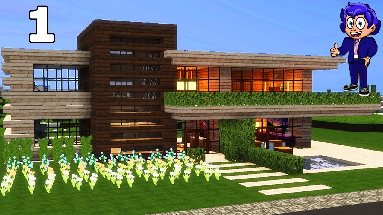 Casa de madera 2 en minecraft p1 presentaci n c mo hacer for Casa moderna 4 mirote y blancana