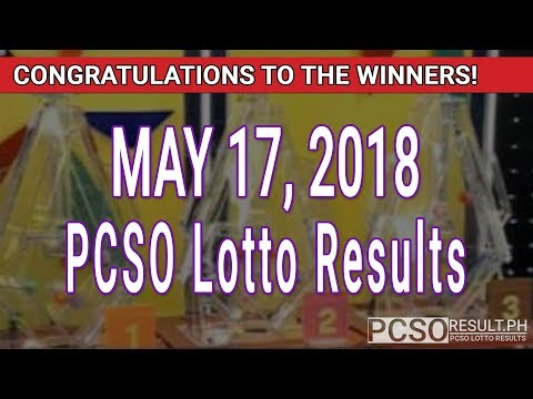 PCSO Lotto Results Today May 17, 2018 (6/49, 6/42, 6D, Swertres, STL & EZ2)