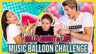 LEVY & HELLO AUGUST - MUSIC BALLOON CHALLENGE + GIVEAWAY