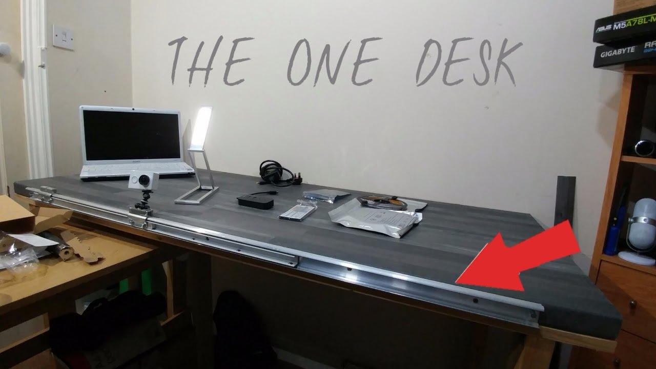 Project Geek Desk - A Custom PC Table Build - YouTube