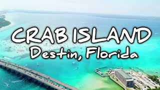 Crab Island, Destin Florida - A RevYourLifeTV VLOG adventure!  (goPro & drone in HD)