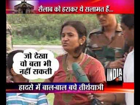 Shocking footage of flood victims after Kedarnath destruction