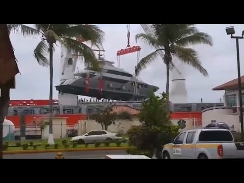 Superyacht accident - Falling from crane