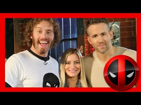 DEADPOOL! Ryan Reynolds and TJ Miller interview | iJustine