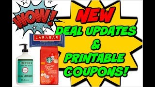 NEW DEAL UPDATES AND PRINTABLE COUPONS!