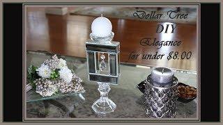Stunning Elegant Glam Mirror Candle Holder Dollar Tree DIY Home Decor