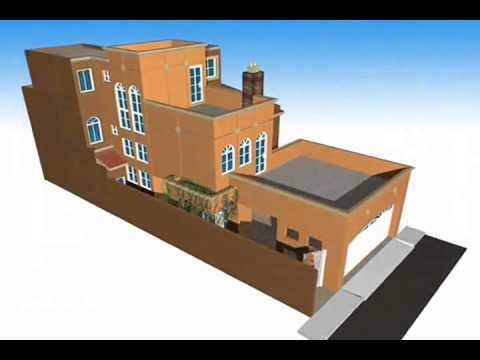 Casa de 4 recamaras y 3 niveles youtube for Casa con garage laterale
