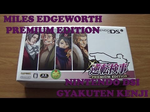 Gyakuten Kenji Ace Attorney Nintendo DS DSi System Limited Edition Unboxing