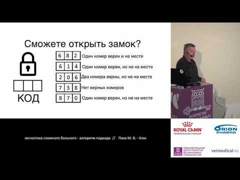 Пака М. В. – Клиническая диагностика сложного больного - алгоритм подхода