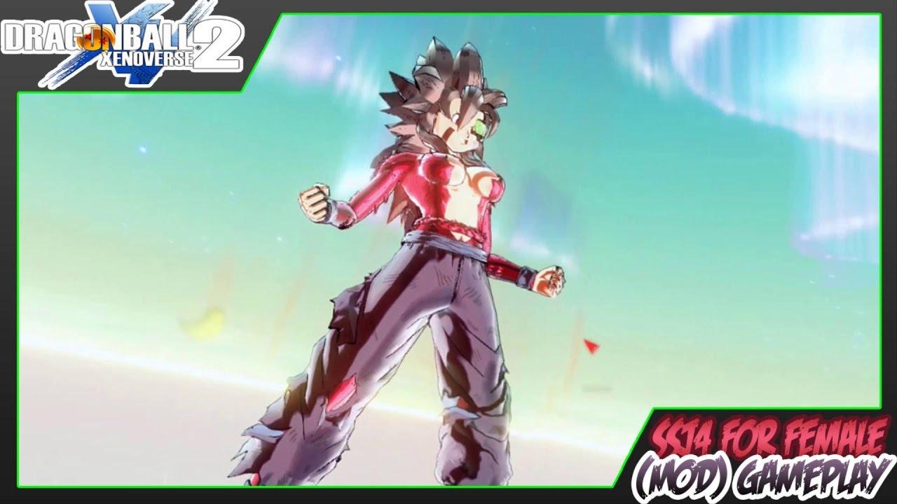 Dragon Ball Xenoverse 2 | Super Saiyan 4 Transformation for Female CAC (MOD)