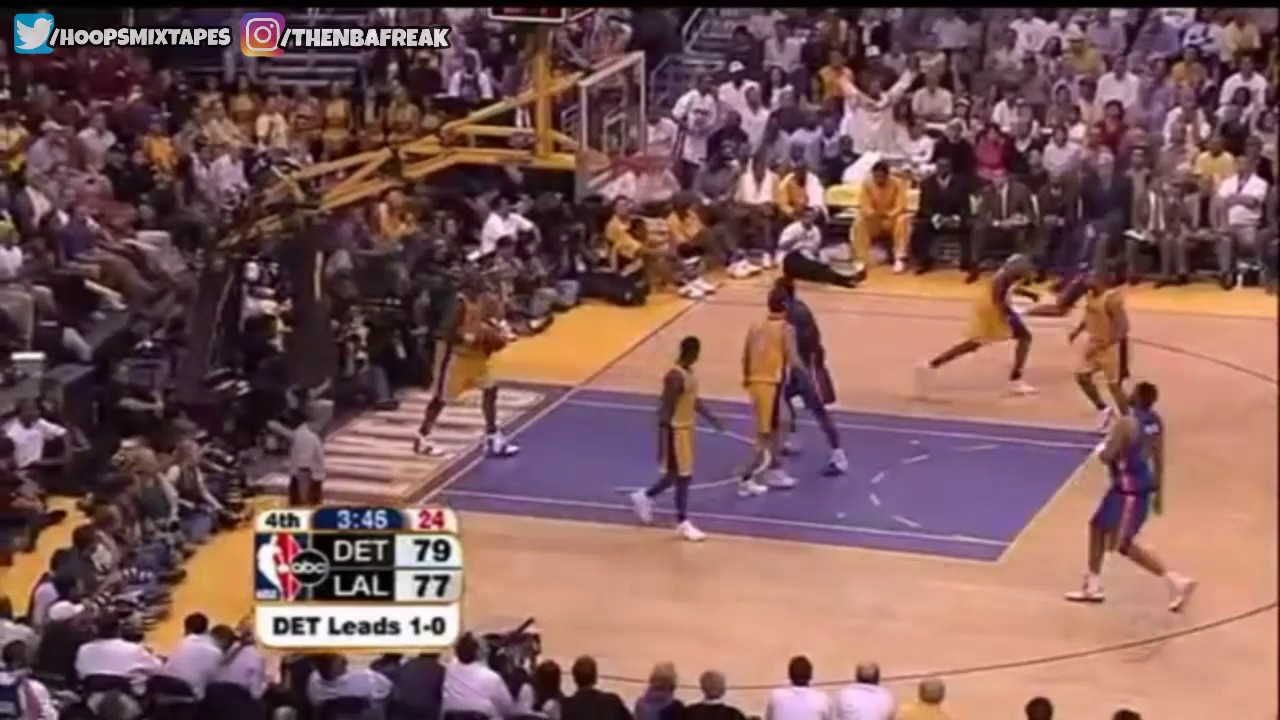 2004 NBA Finals - Pistons @ Lakers - Game 2 Best Plays ...Lakers Game