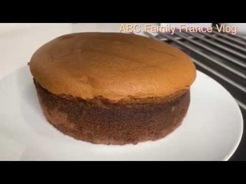 Cách làm Bánh Bông Lan Chocolate không cần bột nổi /Chocolate sponge cake/ABC Family France Vlog