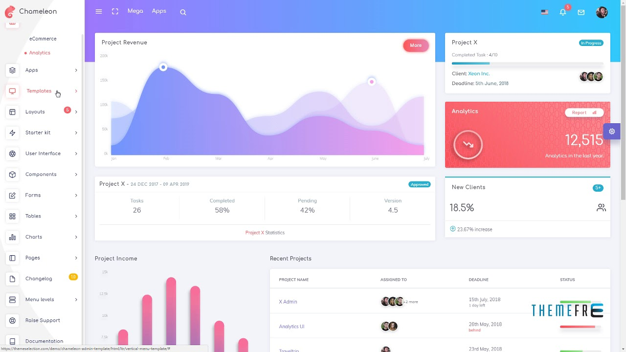 Chameleon Admin - Modern Bootstrap 4 WebApp and Dashboard HTML Templa