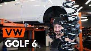 Hoe een spiraalveer achteraan vervangen op een VW GOLF 6 (5K1) [HANDLEIDING AUTODOC]