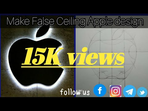 apple-design-false-ceilling-pop,-froot-ceiling-design-,about-this-make-apple-design-video-shown