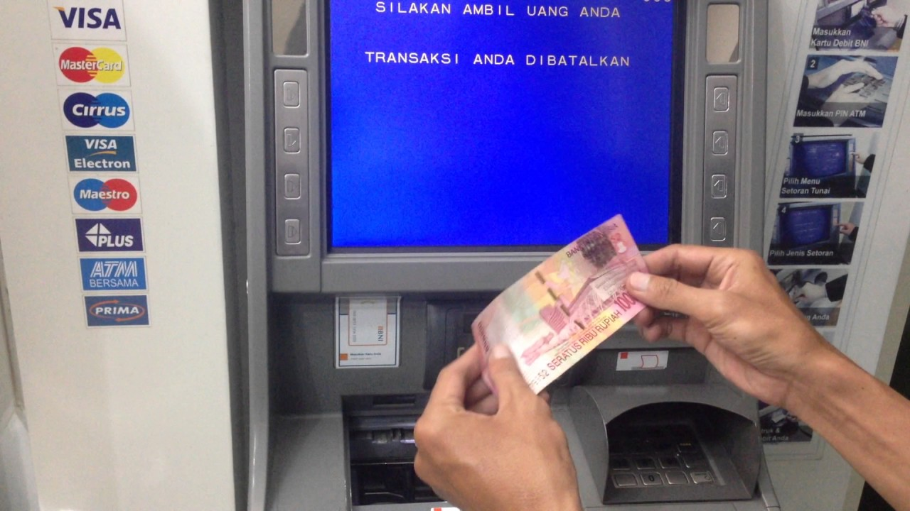 Cara Setor Tunai di ATM - YouTube