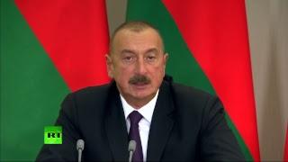 Пресс-подход Владимира Путина и Ильхама Алиева