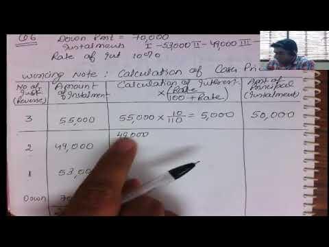 2.5 calculation of cash price