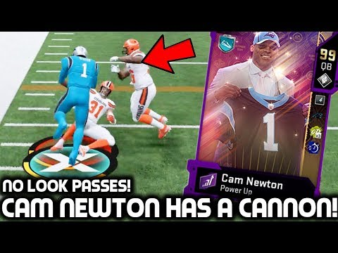 CAM NEWTON HAS A CANNON! NO LOOK PASSES!  Madden 20 Ultimate Team
