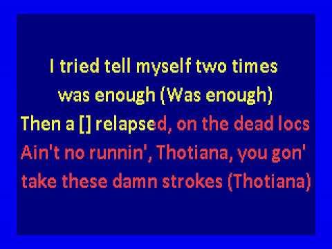 Chords for Blueface - Thotiana original version (karaoke)