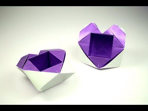 Origami Heart Box | Valentine's Heart | Paper ART 013