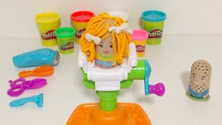 PLAY-DOH | Learn colours with PLAY-DOH crazy cut hair salon | Play doh skip to my Lou song for kids