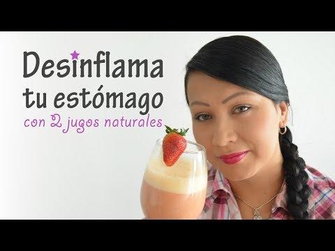 2 jugos naturales para desinflamar el estómago - YouTube