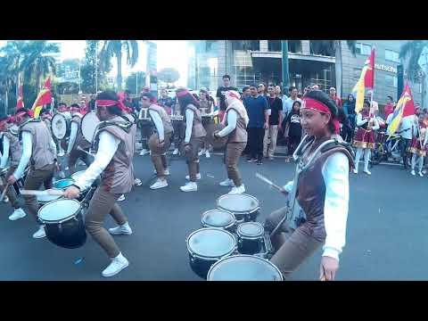Marching Band SMP 1 Cikini Di Car Free Day  Jakarta HI