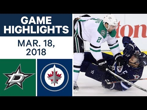 NHL Game Highlights | Stars vs. Jets - Mar. 18, 2018