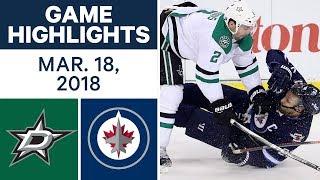NHL Game Highlights | Stars vs. Jets - Mar. 18, 2018