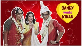 স্যাণ্ডি সাহা ও কিরণ দত্তের শুভ বিবাহ | The Bong Guy weds Sandy Saha | Ft Ena Saha & Kiran Dutta |