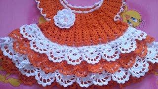 Вязание. Вяжем платье на малышку