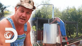 Tim Smith Makes A Industrial Swan Neck Still Heated With Steam But The Boiler Explodes | Moonshiners
