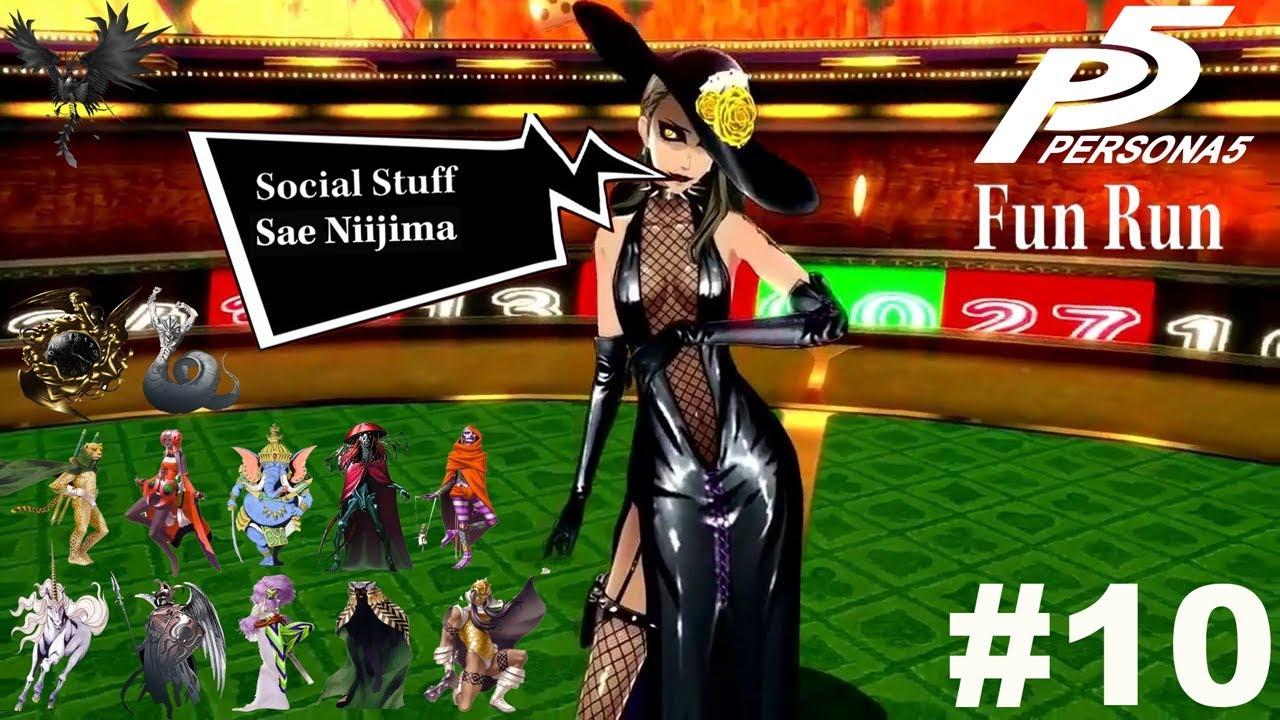 Persona 5 NG+ (Hard): Choose My Personas Fun Run Pt 10 - Social Stuff + Sae  Niijima 2/2