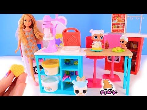 Куклы Лол Сюрприз! Завтрак с Плей До и Утро у Стейси Lol мультик! Видео для детей Morning Routine