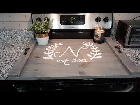 Diy Farmhouse Decor Wood Stove Top Cover Neesiedoesit Youtube