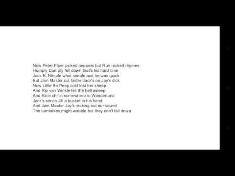 RUN DMC Peter Piper lyrics