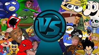 MLG & YOUTUBE POOP Meme Free For All: Cartoon Fight Club Animation