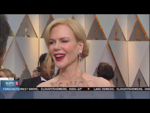 M'chel Bauxal-Gleason TV Interview Clip Feb 27 2017 Oscars
