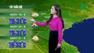 Thời tiết 12h 18/09/2018: Mưa rải rác 3 ngày tới trên cả nước   VTC14