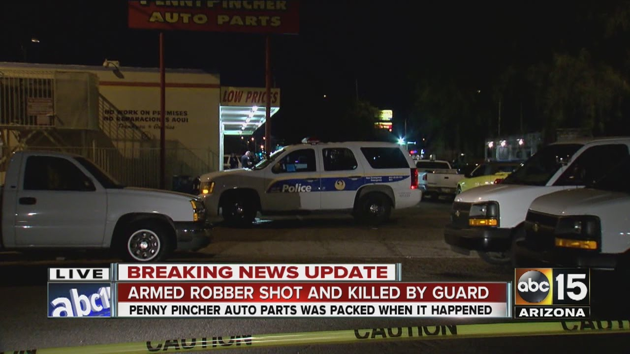 Penny Pincher Auto Parts >> Armed Robber Shot And Killed By Guard