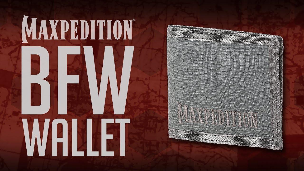 MAXPEDITION AGR BFW Bi Fold Portefeuille Noir Portefeuille Fin Nylon 1000D
