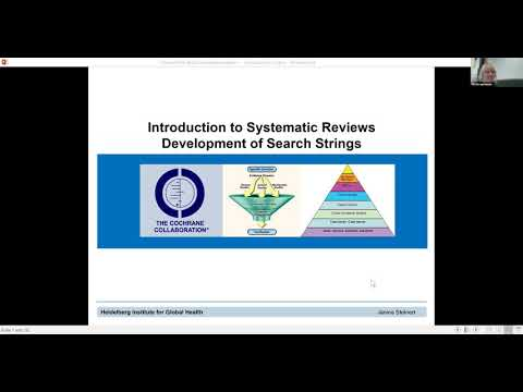Introduction to Systematic Review - Development of Search Strings - 30.10.2019