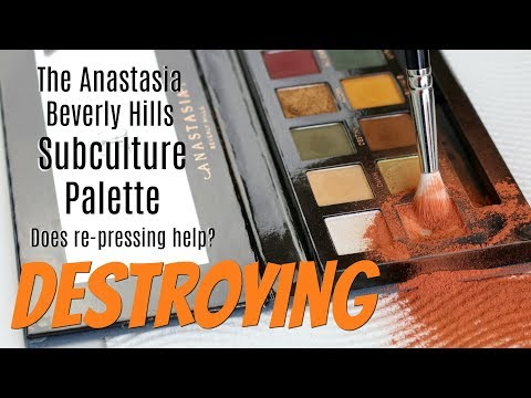 THE MAKEUP BREAKUP - Does re-pressing the ABH Subculture Palette help the formula? Destroying Makeup