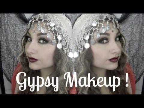 Seductive Gypsy Halloween Makeup Tutorial   Beautybyjosiek - YouTube