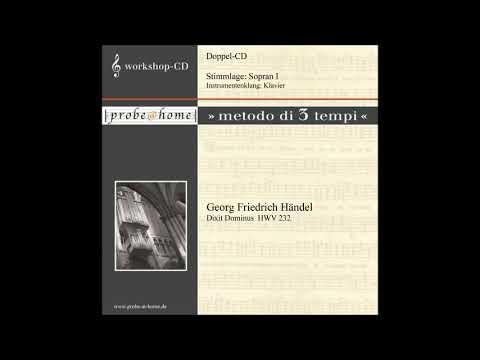 Dixit Dominus - HWV 232 - Handel - Händel - Soprano 1 - Sopran 1 - T3