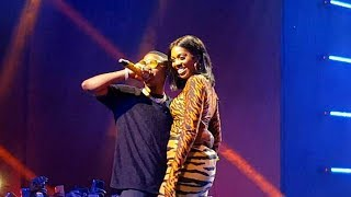 "Tiwa Savage and Wizkid bring Fever on stage at the ""Wizkid Exclusive Vip Experience"""