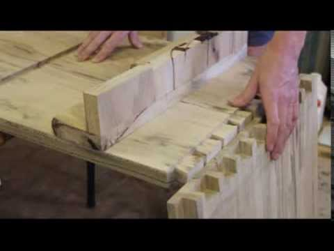 Furniture making using traditional joinery