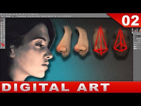 How to paint a nose [tutorial] digital art process
